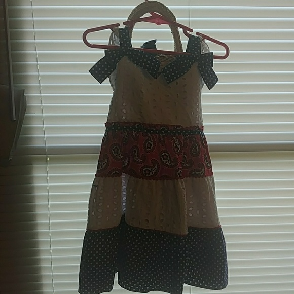 Nannette Other - 3T red white and blue dot & Paisley dess